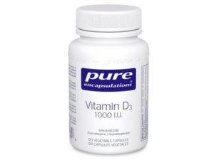 Vitamin D3 Capsules by Pure Encapsulations (120 Capsules)